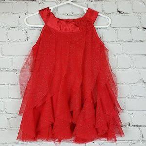 Christmas Dress Glitter Ruffles 18m
